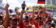 Regeringens anhängare i Venezuela. Natacha Pisarenko / TT NYHETSBYRÅN/ NTB Scanpix