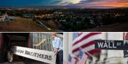 Silicon Valleys skyline, storbanken Lehman Brothers gick omkull vid finanskrisen 2008, Wall Street. Arkivbilder. Wikimedia/TT