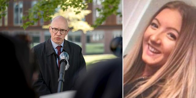 Kammaråklagare Jim Westerberg och mördade Wilma Andersson.  TT /privat