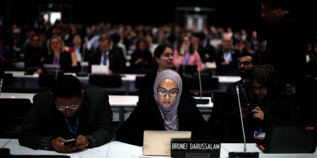 Klimatmötet i Madrid.  Manu Fernandez / TT NYHETSBYRÅN