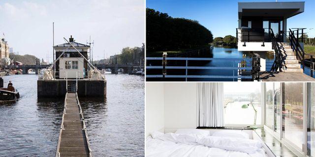 En gång i tiden ansvarade brovakterna för att trafiken skulle flyta säkert över kanalerna i Amsterdam. Nu har de ikoniska brohusen förvandlats till hotellrum. Sweets Hotel