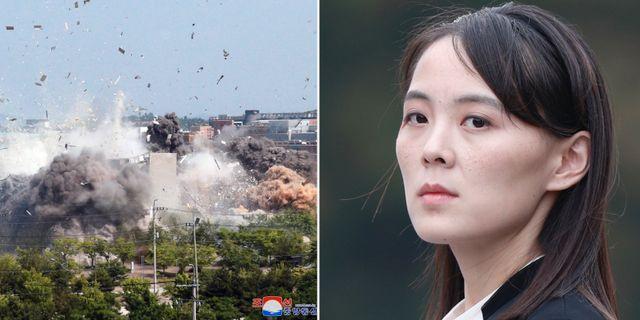 Sprängningen av gränskontoret/Kim Yo-jong AP/TT