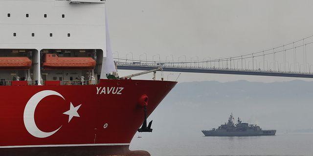 Turkiskt oljeborrningsfartyg Yavuz som ska borra utanför Cypern TT