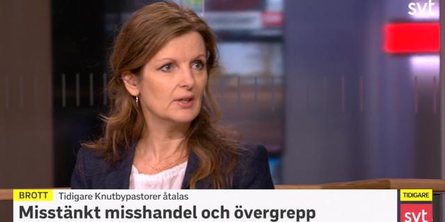 Anna Kaldal i SVT.  SVT