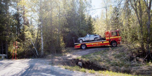 Fyra 16-åriga pojkar dog i den svåra singelolyckan utanför Sundsvall.  Mats Andersson / TT / TT NYHETSBYRÅN