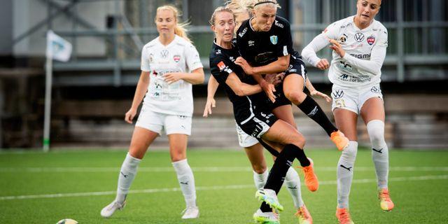 Göteborg FC och FC Rosengård.  Jonas Lindstedt/TT / TT NYHETSBYRÅN