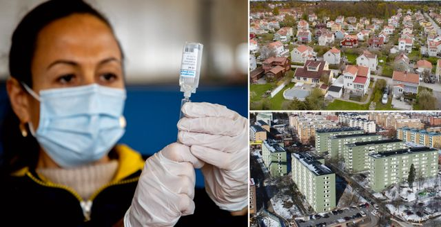 Vaccinspruta, Norra Ängby i Bromma och Rinkeby. Illustrationsbilder. TT