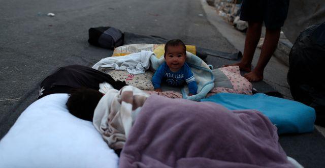 Bebis som bodde i Moria. Petros Giannakouris / TT NYHETSBYRÅN