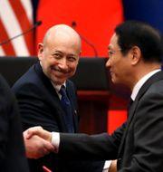 Goldman Sachs tidigare vd Lloyd Blankfein i möte år 2017 med bland annat Kinas president Xi Jingping. JONATHAN ERNST / TT NYHETSBYRÅN