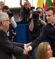 Macron, Juncker, Mogherini FREDERICK FLORIN / AFP