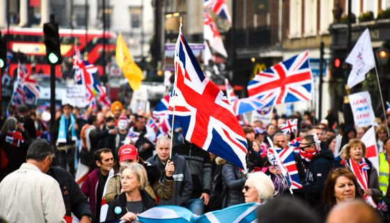 Pro-brexitdemonstranter i London.