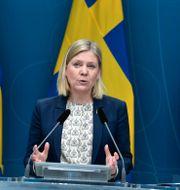 Magdalena Andersson presenterade utredningen på en pressträff på torsdagen Pontus Lundahl/TT / TT NYHETSBYRÅN