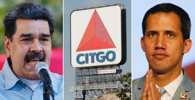 Maduro och Guaidó.  TT