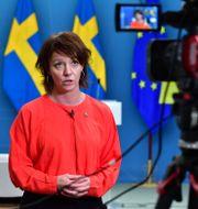Matilda Ernkrans (S). Jonas Ekstromer / TT NYHETSBYRÅN