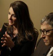 Melinda och Bill Gates, arkivbild. Seth Wenig / TT NYHETSBYRÅN