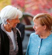 ECB-chefen Christine Lagarde och Tysklands förbundskansler Angela Merkel Hannibal Hanschke / TT NYHETSBYRÅN