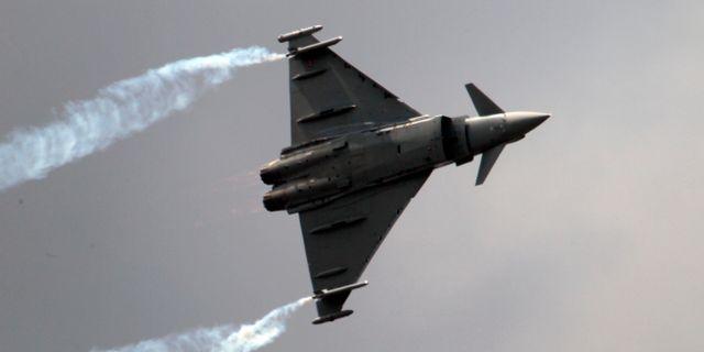Arkivbild. Ett Europfighter stridsflygplan.   Francois Mori / AP
