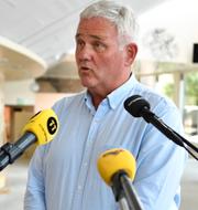 MP:s Märta Stenevi och Centerpartiets Anders W Jonsson. TT.
