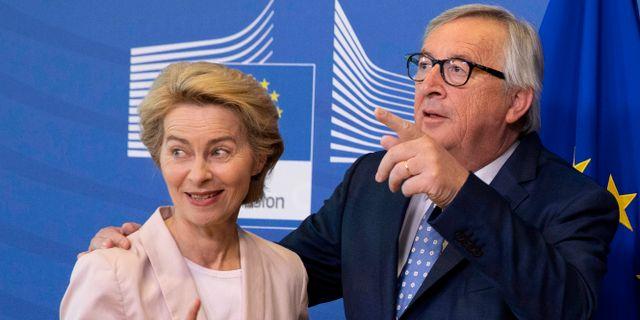 Ursula von der Leyen tillsammans med Jean-Claude Juncker i början av juli. Virginia Mayo / TT NYHETSBYRÅN/ NTB Scanpix