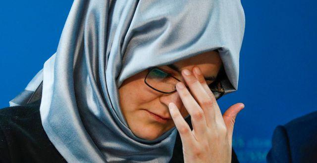 Hatice Cengiz skulle gifta sig med Jamal Khashoggi när han mördades. FRANCOIS LENOIR / TT NYHETSBYRÅN