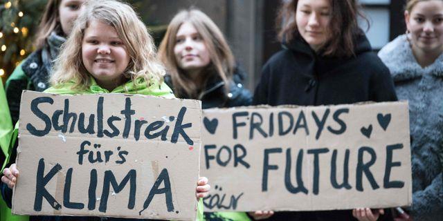Skolstrejkande elever i Köln. FEDERICO GAMBARINI / dpa