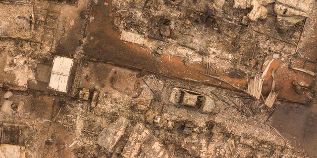Flygfoton över det drabbade området Paradise i Kalifornien. JOSH EDELSON / AFP