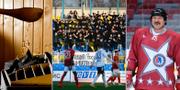 Bastu / Bild från match i Vitrysslands fotbollsliga / Aleksandr Lukasjenko iförd hockeymundering TT