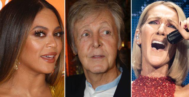 Beyoncé/Paul McCartney/Céline Dion TT