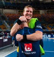 Max Darj jublar efter seger i kvartsfinalen. MATHIAS BERGELD / BILDBYRÅN
