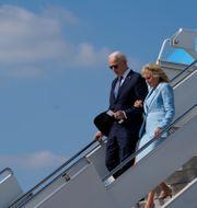 Joe Biden och hans fru Jill Biden.  Patrick Semansky / TT NYHETSBYRÅN
