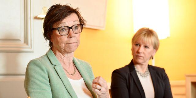 Arkivbild. Annika Söder och Margot Wallström. Marcus Ericsson/TT / TT NYHETSBYRÅN