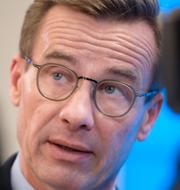 Lena Hallengren, Stefan Löfven och Ulf Kristersson/Arkivbilder TT