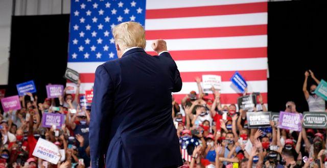 Trump vid mötet i Nevada. Andrew Harnik / TT NYHETSBYRÅN