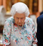 Donald Trump och drottningen i Westminster Abbey. Tolga Akmen / TT NYHETSBYRÅN/ NTB Scanpix