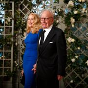 Jerry Hall and Rupert Murdoch arrive for a State Dinner with French President Emmanuel Macron and President Donald Trump at the White House, Tuesday, April 24, 2018, in Washington. Alex Brandon / TT NYHETSBYRÅN