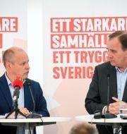 Justitieminister Morgan Johansson och statsminister Stefan Löfven.  Fredrik Sandberg/TT / TT NYHETSBYRÅN