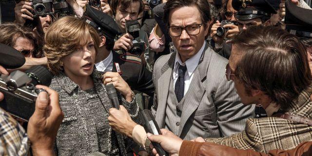 "Michelle Williams och Mark Wahlberg i ""All the money in the world"". Fabio Lovino / TT / NTB Scanpix"