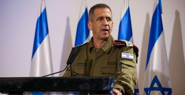 IDF:s högste chef Aviv Kochavi. Oded Balilty / TT NYHETSBYRÅN
