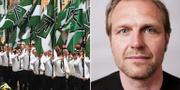 NMR demonstrerar i Ludvika/Journalistförbundets ordförande Jonas Nordling TT
