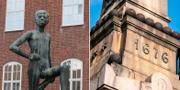 """""""Ung pojke"""" i Ystad / """"Monumentet"""" i Lund. Wikimedia / TT"""