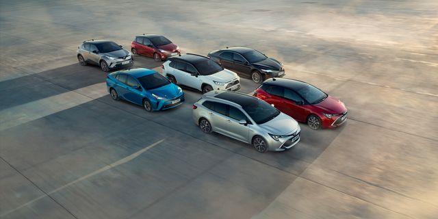 I Sverige säljs sju Toyota-modeller med hybriddrift.