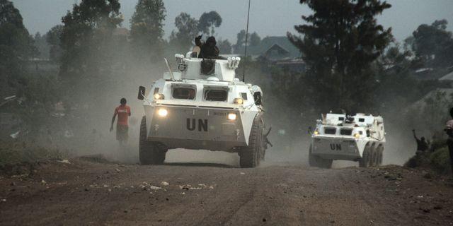 FN-trupp i Munigi, strax norr om Goma, augusti 2013. Joseph Kay / SCANPIX SWEDEN