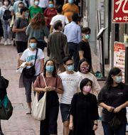 Arkivbild: Folkliv i Hongkong, 9 oktober 2020.  Kin Cheung / TT NYHETSBYRÅN