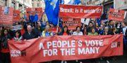 Demonstrationer i samband med Labours partikongress i Liverpool på tisdagen.  Peter Byrne / TT NYHETSBYRÅN/ NTB Scanpix