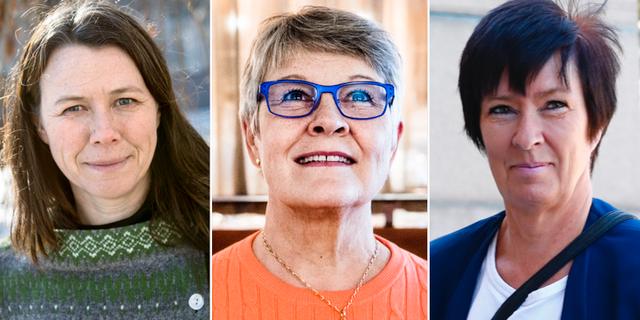 Åsa Romson, Maud Olofsson och Mona Sahlin.  TT