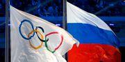 OS-flaggan / den ryska flaggan. Jim Young / TT NYHETSBYRÅN