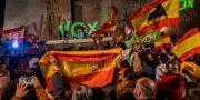 Vox-supportrar två dagar innan valet. Bernat Armangue / TT NYHETSBYRÅN