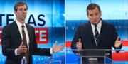 Beto O'Rourke och Ted Cruz. TT