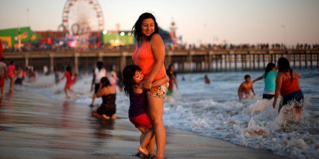 Bad i Stilla havet, Kalifornien. LUCY NICHOLSON / TT NYHETSBYRÅN