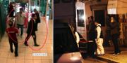 """Några av de övervakningsbilder som uppges visa medlemmar ur """"dödspatrullen""""/utredare på plats vid saudiska konsulatet i Istanbul. TT"""